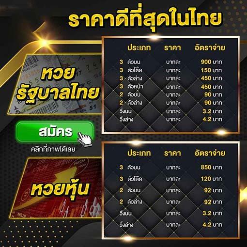 เรทราคารวยหวยไทย